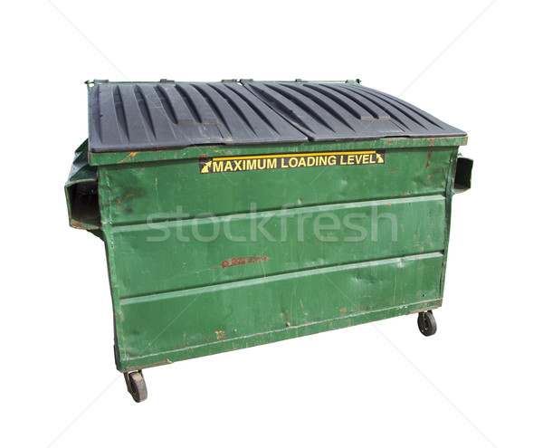 Green Trash or Recycle Dumpster On White with Clipping Path Stock photo © feverpitch