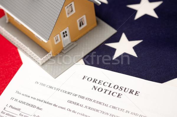 Cebri icra ev bayrak amerikan bayrağı seçici odak Stok fotoğraf © feverpitch