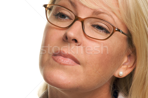 Attractive Woman with Eye Glasses Stock photo © feverpitch