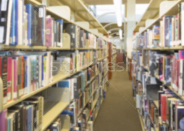 Blurry Library Aisle Background Stock photo © feverpitch