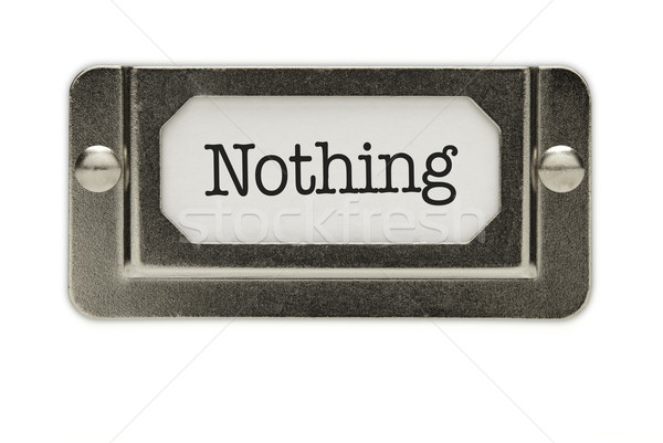 Nothing File Drawer Label Stock photo © feverpitch