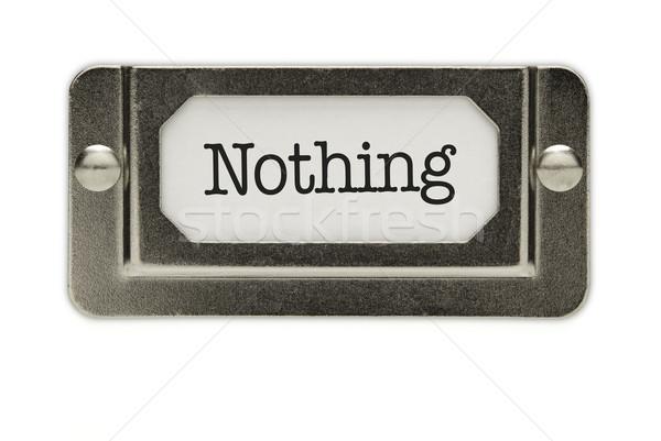 Niets bestand lade label geïsoleerd witte Stockfoto © feverpitch