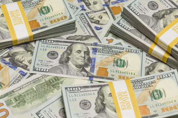 Abstract Stacks of the U.S. New One Hundred Dollar Bill Stock photo © feverpitch