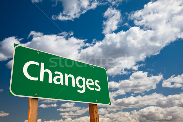 Stock photo: Changes Green Road Sign