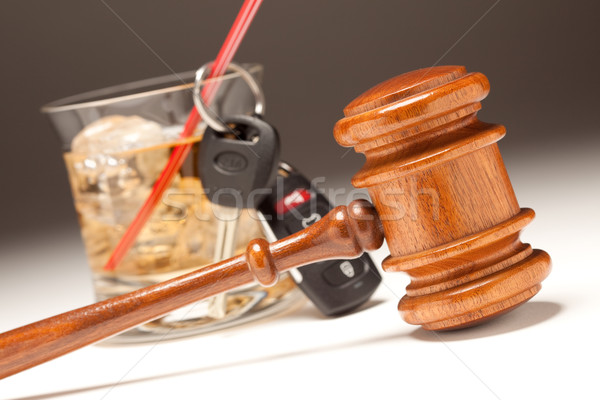 Gavel, Alcoholic Drink & Car Keys Stock photo © feverpitch