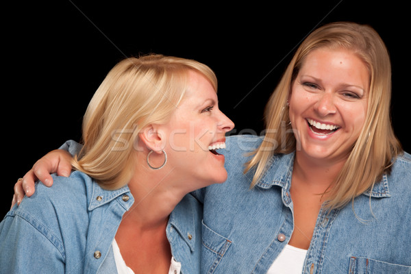 Two Beautiful Sisters Laughing Stock photo © feverpitch