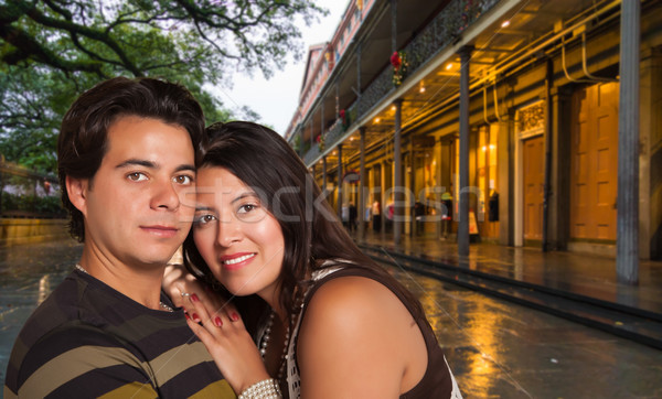 Happy Hispanic Couple Enjoying an Evening in New Orleans, Louisi Stock photo © feverpitch