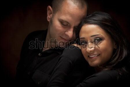 Mutlu çift diğer portre Stok fotoğraf © feverpitch