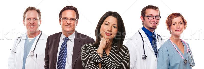 Hispânico mulher empresário masculino médicos Foto stock © feverpitch