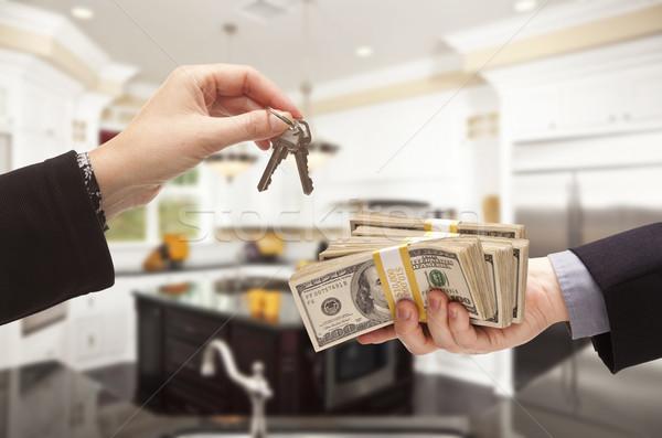 Stock fotó: Pénz · kulcsok · bent · gyönyörű · otthon · vám