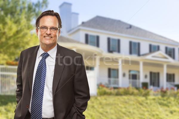 Stock fotó: Vonzó · üzletember · szép · lakóövezeti · otthon · gyönyörű