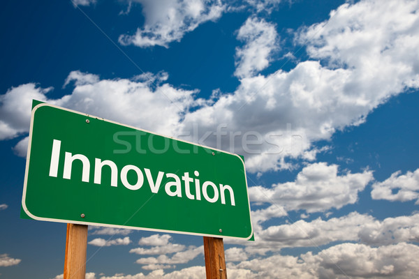 Stock photo: Innovation Green Road Sign