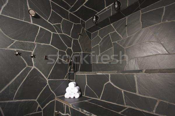 Folyó kő gőz szoba vám test Stock fotó © feverpitch