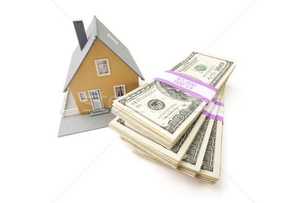 ストックフォト: ホーム · お金 · 孤立した · 白 · 家 · 現金