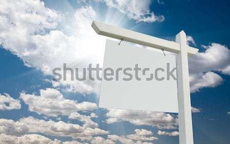 Stock fotó: Ingatlan · felirat · felhők · égbolt · kész · saját