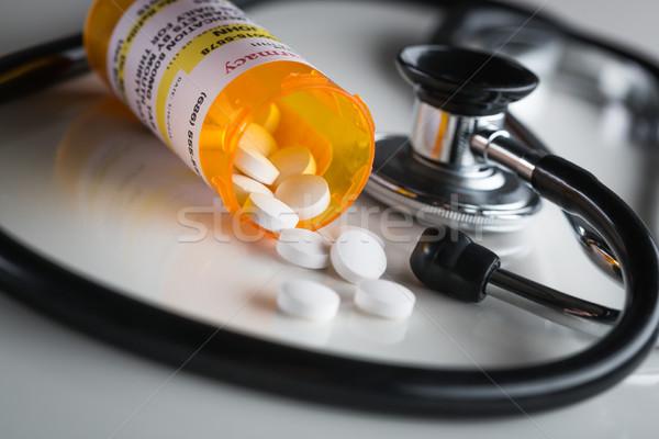 Non-Proprietary Medicine Prescription Bottles and Spilled Pills  Stock photo © feverpitch