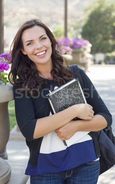 Pretty Young Female Student Portrait on Campus Stock photo © feverpitch