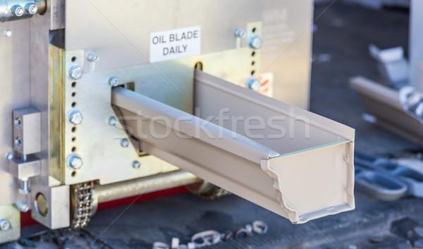Regen goot naadloos machine aluminium Stockfoto © feverpitch