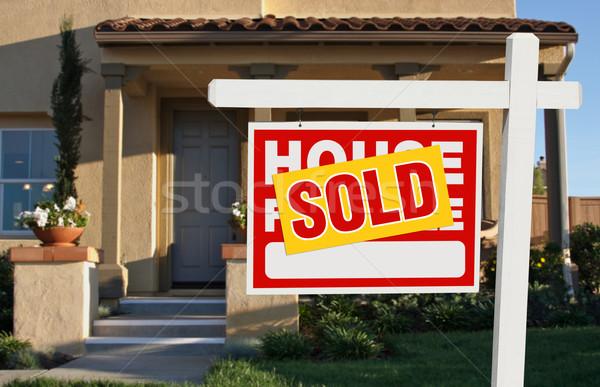 Vendido casa venda assinar casa Foto stock © feverpitch