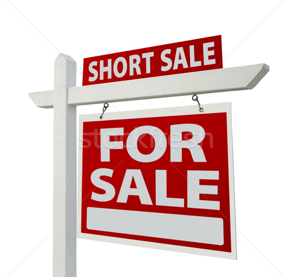 Short Sale Real Estate Sign - Right Stock photo © feverpitch