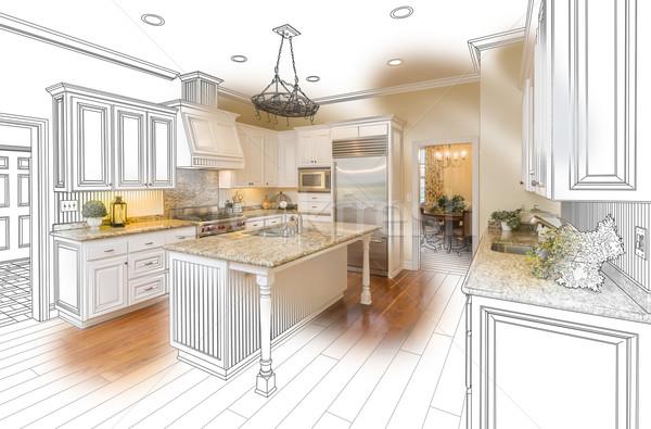 Cucina design disegno foto combinazione Foto d'archivio © feverpitch