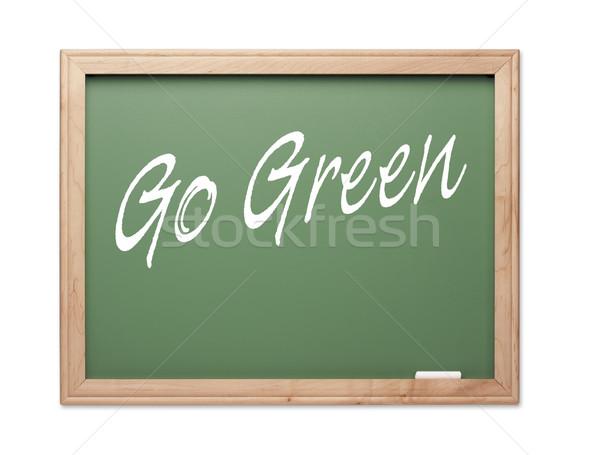 Foto d'archivio: Verde · gesso · bordo · bianco · scuola · sfondo
