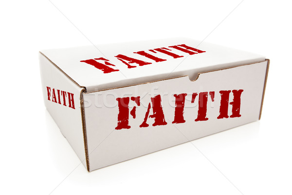 White Box with Faith on Sides Isolated Stock photo © feverpitch