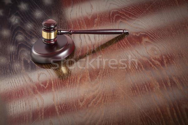 木製 小槌 フラグ 表 アメリカンフラグ ストックフォト © feverpitch
