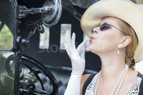Photo stock: Vingtaine · maquillage · antique · séduisant · jeune · femme