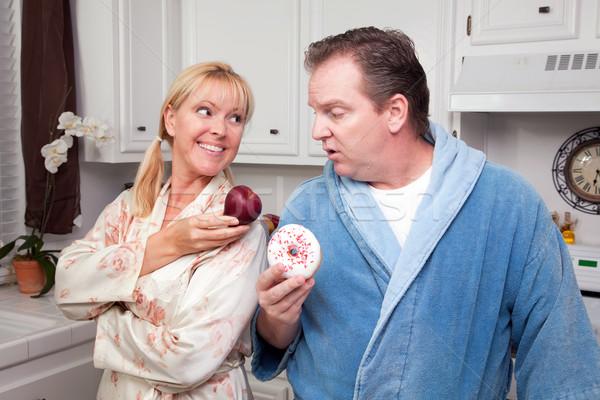 фрукты пончик решение пару кухне Сток-фото © feverpitch