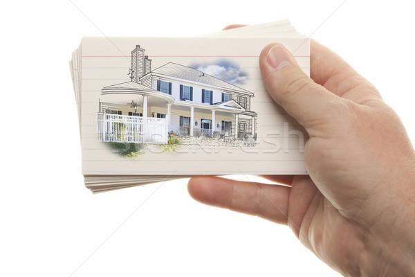 Masculina mano flash tarjetas Foto stock © feverpitch