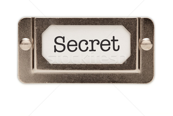 Stock photo: Secret File Drawer Label