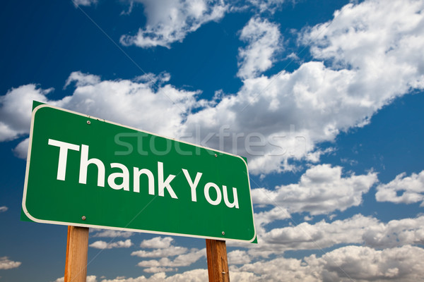 Thank You Green Road Sign Stock photo © feverpitch