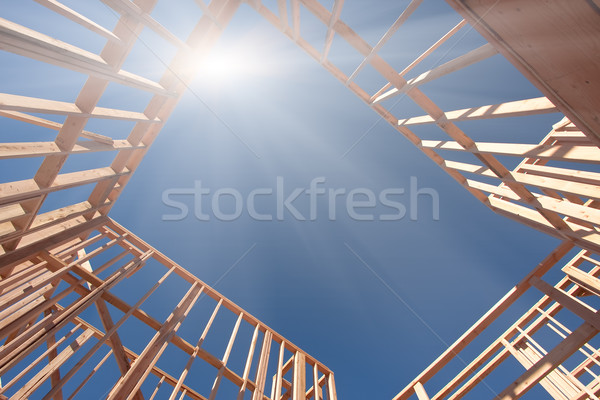 Construction Framing Abstract Stock photo © feverpitch
