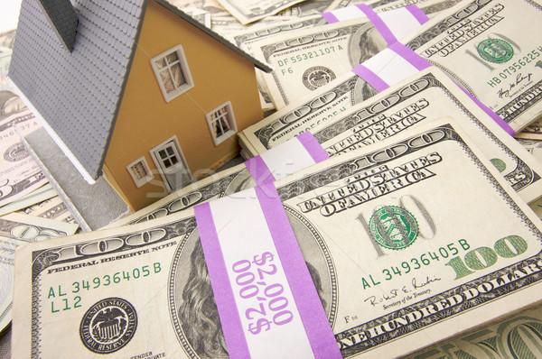 Foto stock: Casa · dinheiro · casa · branco · numerário · de · vendas