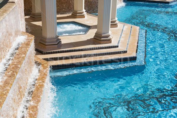 エキゾチック 高級 スイミングプール 温水浴槽 抽象的な 水 ストックフォト © feverpitch