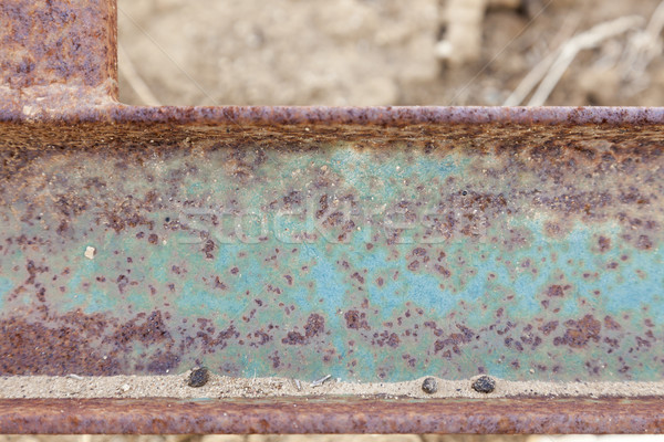 Abstract Aged Iron Beam Background Stock photo © feverpitch