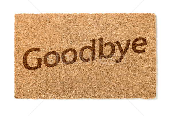 Goodbye Welcome Mat on White Stock photo © feverpitch