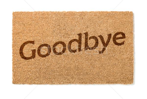 Viszlát üdvözlet fehér izolált ház otthon Stock fotó © feverpitch
