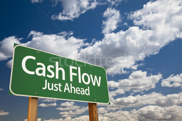 Cash Flow Green Road Sign Stock photo © feverpitch