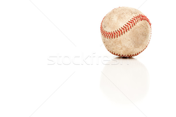 Single Baseball Isolated on White Stock photo © feverpitch