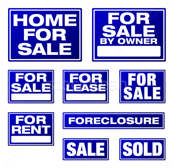 Real Estate and Business Vector Signs Stock photo © feverpitch