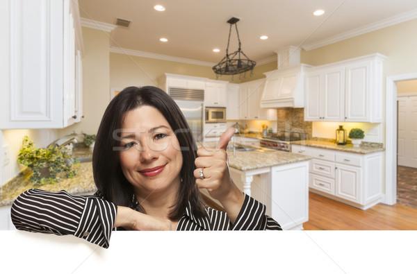 Stok fotoğraf: Koyu · esmer · kadın · mutfak · iç