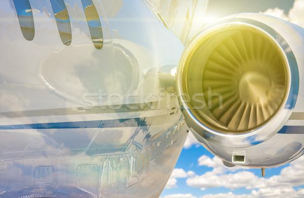 аннотация двигатель воздуха путешествия самолет Сток-фото © feverpitch