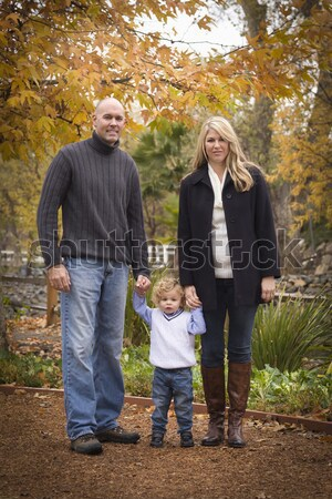 Mommy and Daddy Having Fun with Baby Brother And Sister Stock photo © feverpitch