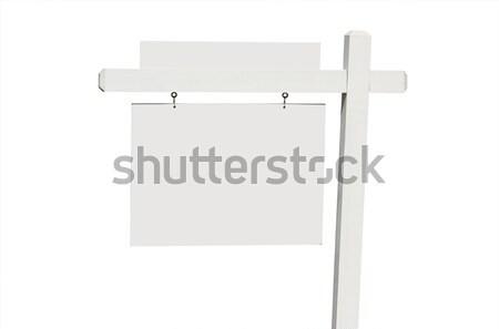 Ingatlan felirat plakát kész saját szöveg Stock fotó © feverpitch