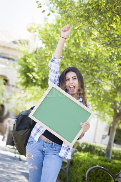 возбужденный женщины студент Сток-фото © feverpitch