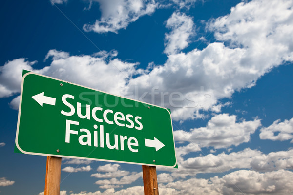 Success, Failure Green Road Sign Stock photo © feverpitch