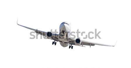 Jet Airplane Landing Isolated on White Stock photo © feverpitch