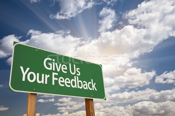 Give Us Your Feedback Green Road Sign Stock photo © feverpitch